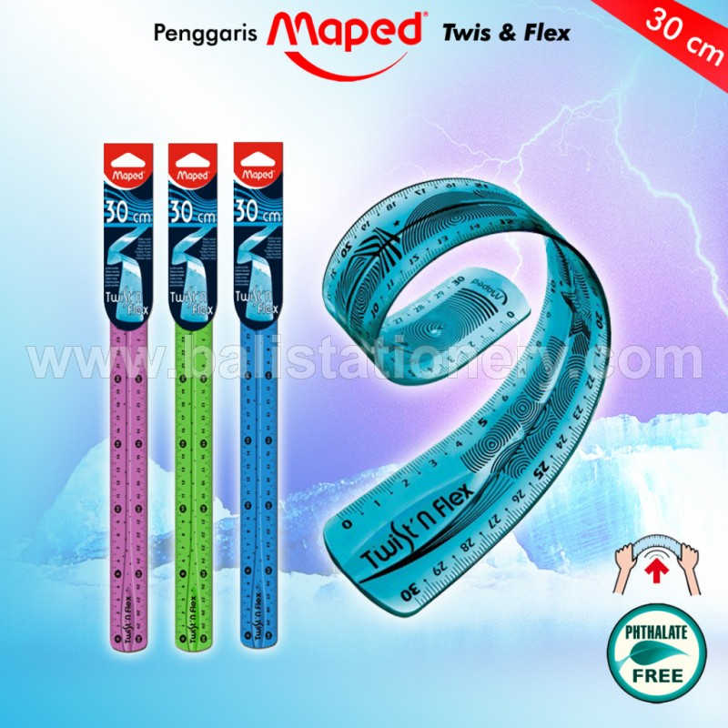 Penggaris Maped Twist & Flex 30 cm