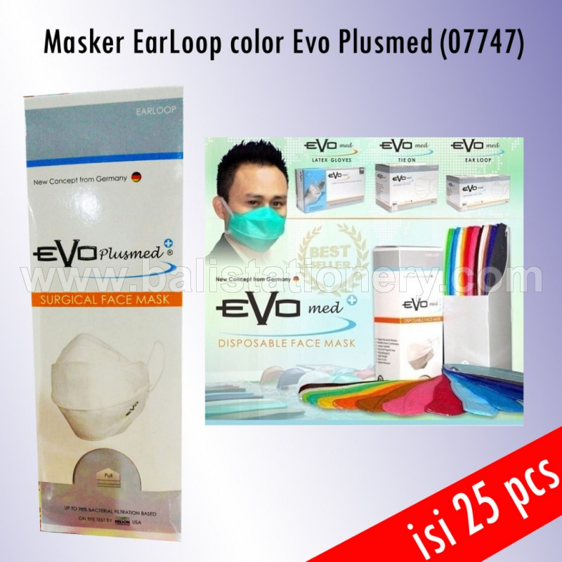 Masker Earloop color Evo Plusmed (07747)