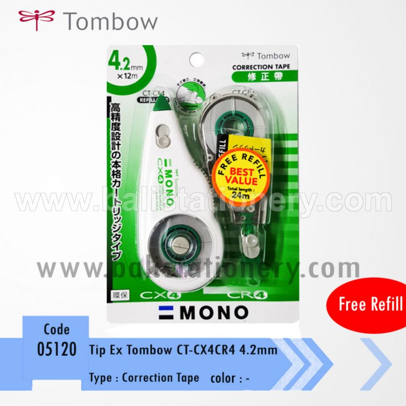 Correction Tape Tombow (CT-CX4CR4) + Free Refill