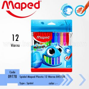 Spidol Plastic Maped Color'Peps Ocean 12 colors with Zip Bag