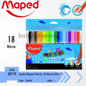 Spidol Plastic Maped Color'Peps Ocean 18 colors with Zip Bag