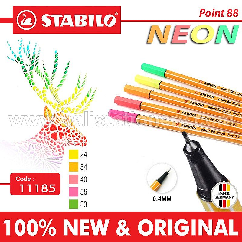 Drawing Pen Stabilo Point 88 Neon colors