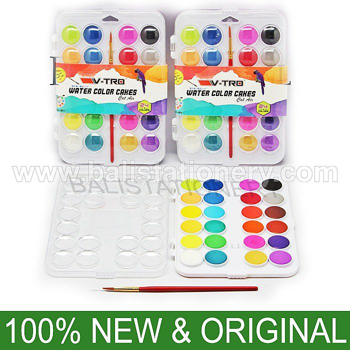 Water Colors Cake V-TRO BONUS Kuas 24 warna
