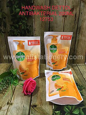 Refill Hand Wash Dettol Anti Bakterial Re-Energize 200ml