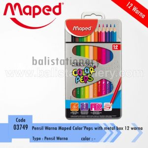 pensil warna Maped Color'peps 12 Warna with Metal Box